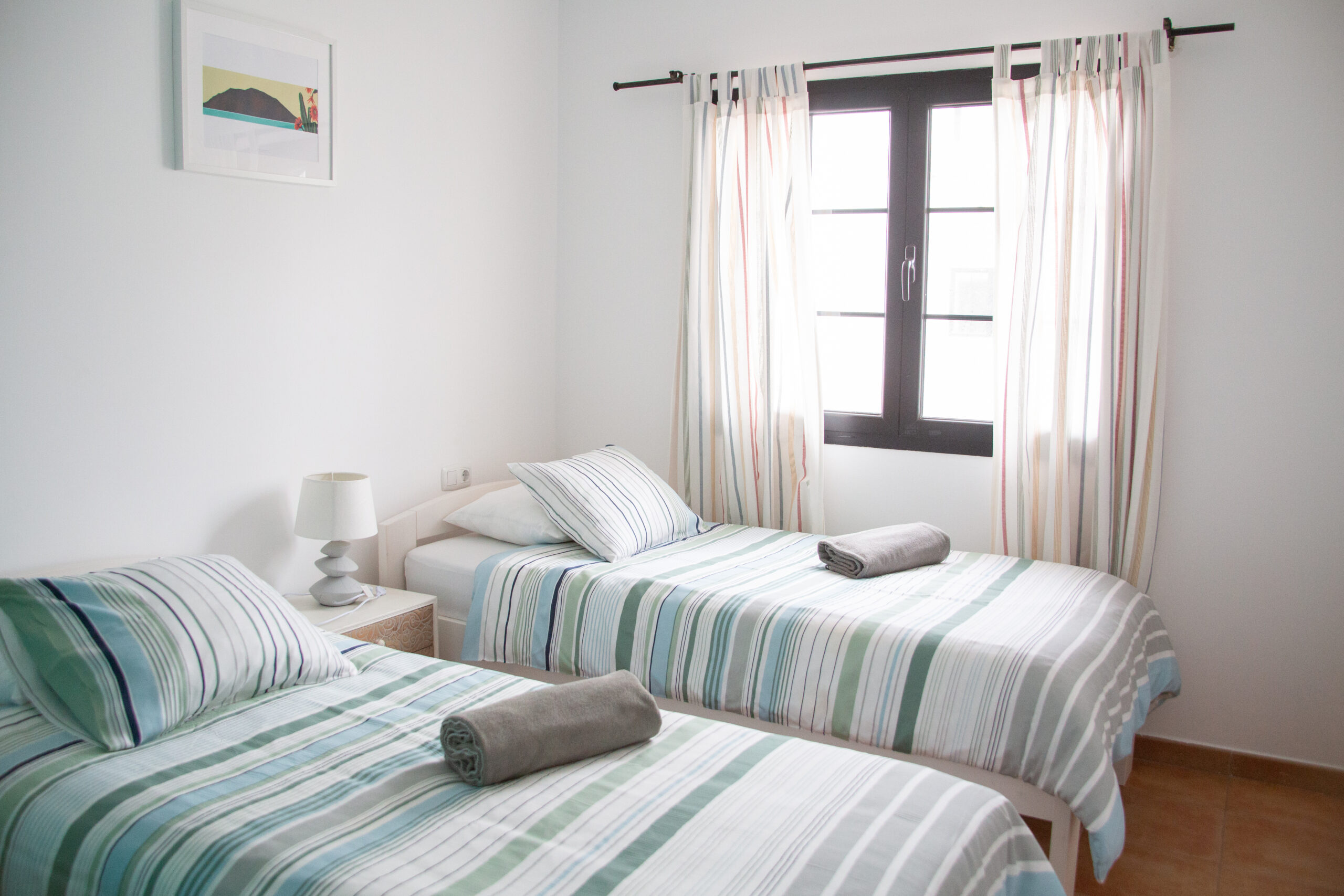 Arena Blanca accommodation twin bedroom