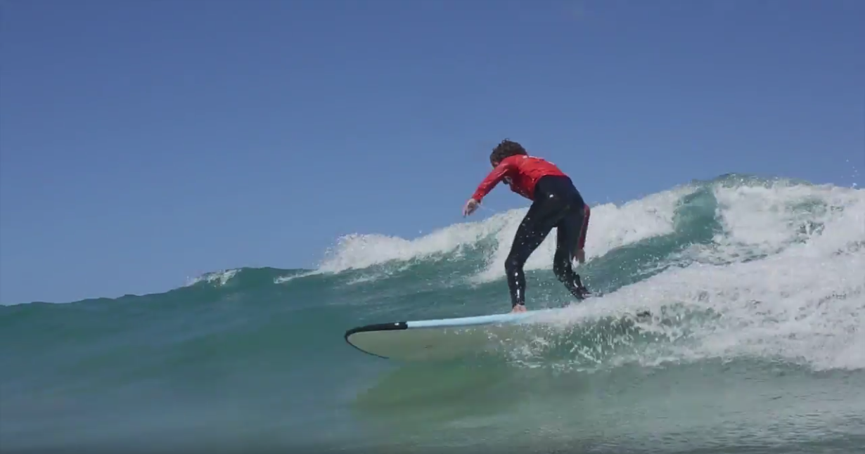 Surfing at Flag Beach