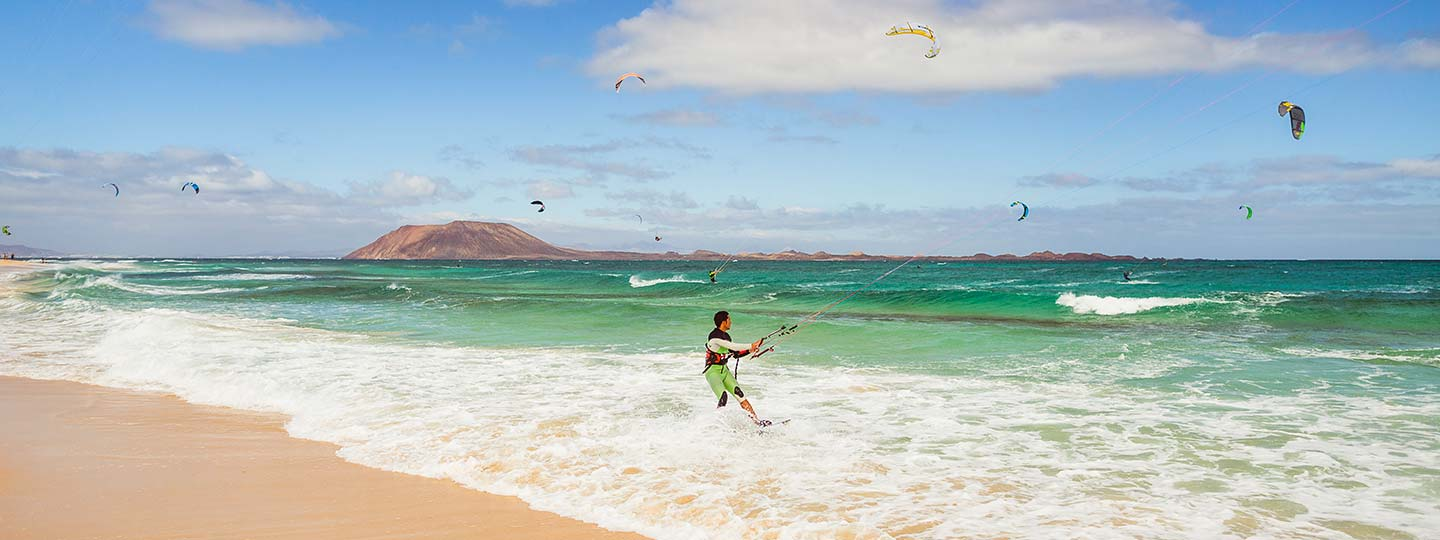 Kitesurfing courses on Fuerteventura