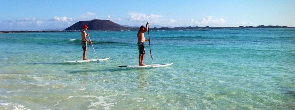 Stand up Paddleboarding bei Flag Beach